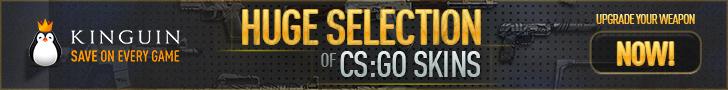 Kinguin - CS:GO Skins 728x90